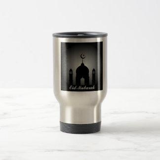 Caneca Térmica Abóbada da mesquita e silhueta do minarete