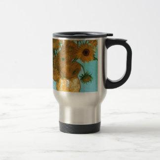 Caneca Térmica Ainda vida: Girassóis - Vincent van Gogh