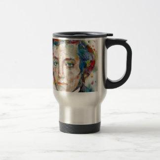 Caneca Térmica Alexis de tocqueville - retrato da aguarela
