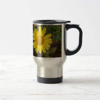 Caneca Térmica Amarelo do cu da flor da margarida