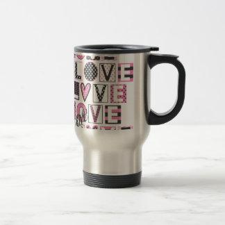 Caneca Térmica amor para o design do vintage do amor