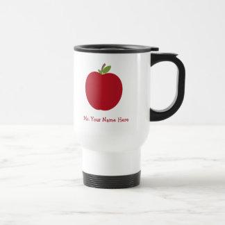 Caneca Térmica Apple vermelho personalizou o professor