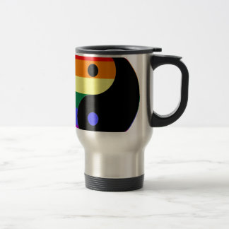 Caneca Térmica Arco-íris Yin e Yang - cores do arco-íris do
