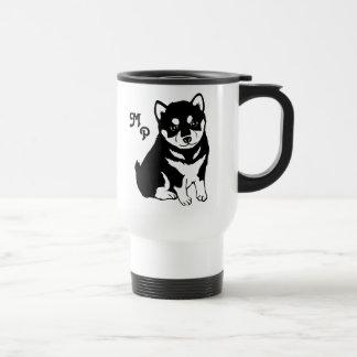 Caneca Térmica Arte bonito do filhote de cachorro de Shiba Inu