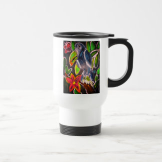 Caneca Térmica Arte de Toucan da floresta tropical