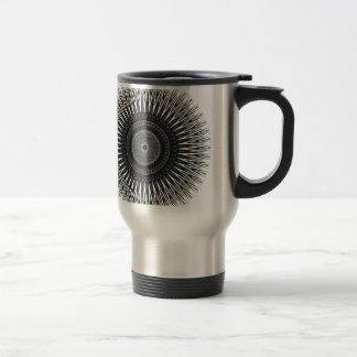 Caneca Térmica Arte espiral preto e branco