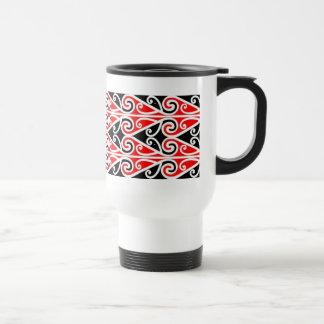 Caneca Térmica arte tribal do design maori para você