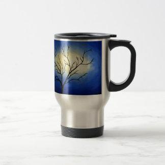Caneca Térmica Árvore abstrata - arte moderna