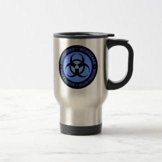 Caneca Térmica Aviso azul do Biohazard