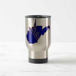 Caneca Térmica Azul e ouro do orgulho de West Virginia