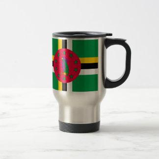 Caneca Térmica Baixo custo! Bandeira de Dominica