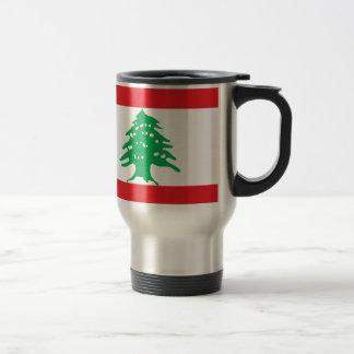 Caneca Térmica Baixo custo! Bandeira de Líbano