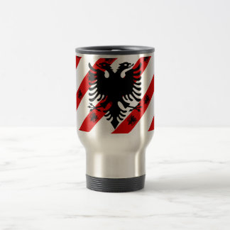 Caneca Térmica Bandeira albanesa das listras