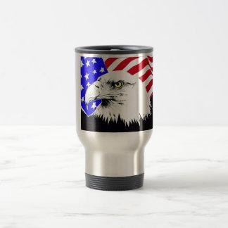 Caneca Térmica Bandeira americana e águia americana