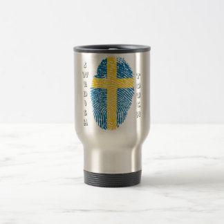 Caneca Térmica Bandeira da impressão digital do toque do sueco