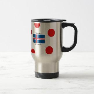 Caneca Térmica Bandeira de Islândia e design islandês da língua