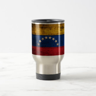 Caneca Térmica Bandeira de madeira velha de Venezuela