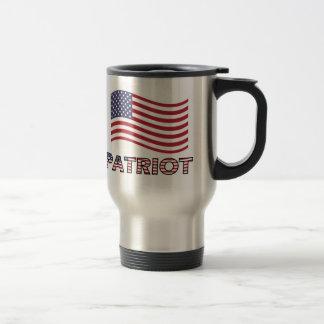 Caneca Térmica Bandeira de ondulação patriótica de América do