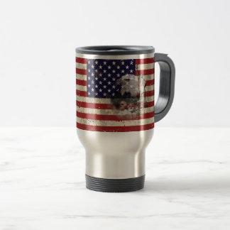 Caneca Térmica Bandeira e símbolos dos Estados Unidos ID155