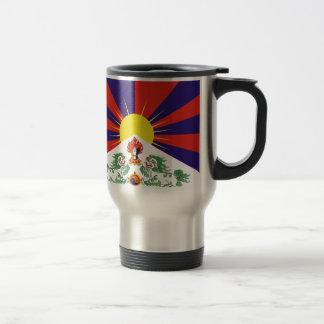 Caneca Térmica Bandeira livre de Tibet - ་ do བཙན do ་ do རང do ་