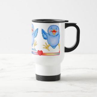 Caneca Térmica Bluebird da felicidade