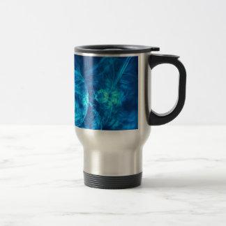 Caneca Térmica bolhas azuis
