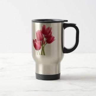 Caneca Térmica Bonito em tulipas cor-de-rosa