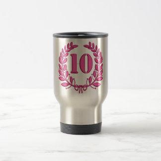 Caneca Térmica bordado da imitação de dez celebrações