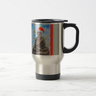 Caneca Térmica Budismo - Buddha - chapéu do Feliz Natal