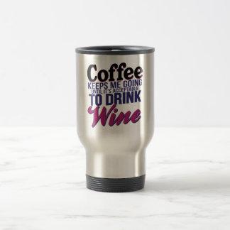 Caneca Térmica Café até que estiver aceitável beber o vinho