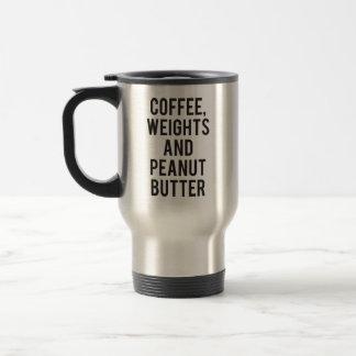 Caneca Térmica Café, pesos e manteiga de amendoim - novidade