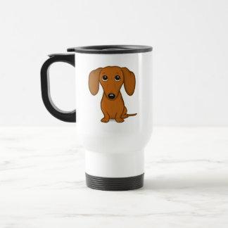 Caneca Térmica Cão bonito do Wiener dos desenhos animados do
