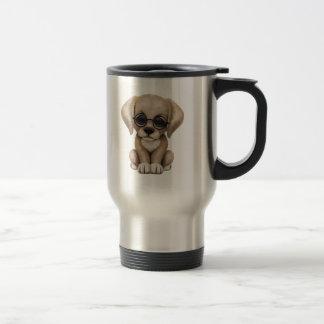 Caneca Térmica Cão de filhote de cachorro amarelo bonito do