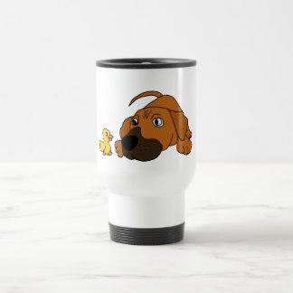 Caneca Térmica Cão de filhote de cachorro do CV Brown com