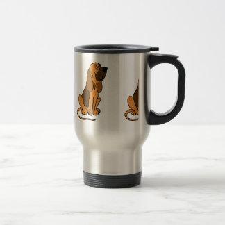 Caneca Térmica Cão de filhote de cachorro engraçado do Bloodhound
