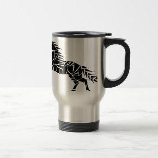 Caneca Térmica Cavallerone - cavalo preto