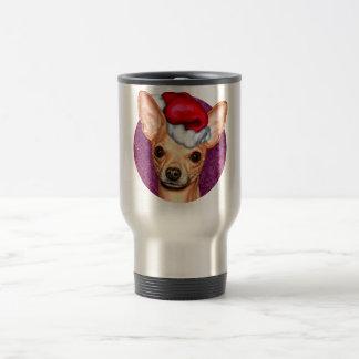 Caneca Térmica Chihuahua Claus