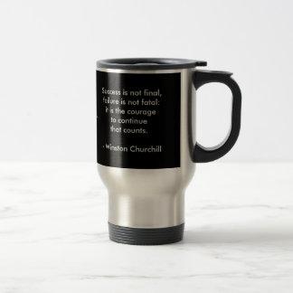 Caneca Térmica Citações de Winston Churchill; Sucesso
