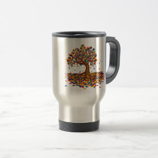 Caneca Térmica Colorful rainbow tree with bright colors