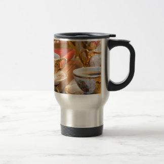 Caneca Térmica Copos de café retros da porcelana com café quente