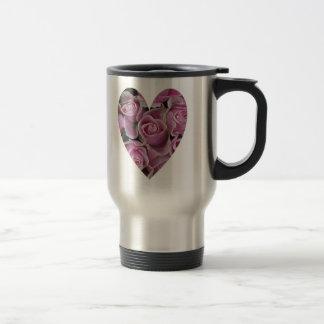 Caneca Térmica Coração cor-de-rosa