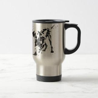 Caneca Térmica Dalmatian, cão Dalmatian, Dalmatian da aguarela