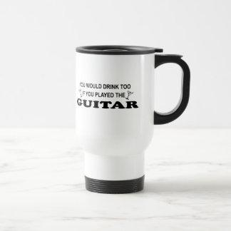 Caneca Térmica De Drinnk guitarra demasiado -