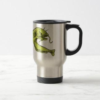 Caneca Térmica Desenho de salto do peixe-gato do diabo
