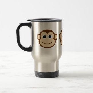Caneca Térmica Desenhos animados da cara do macaco