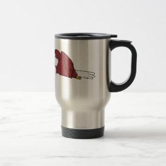 Caneca Térmica Desenhos animados do vôo da águia americana