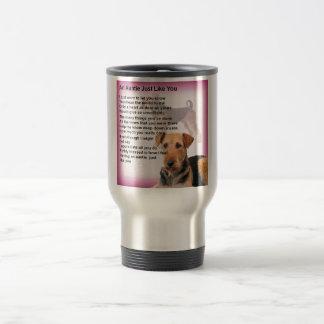 Caneca Térmica Design de Airedale Terrier - poema do Auntie