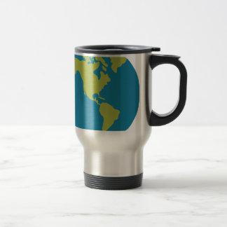 Caneca Térmica Design dos continentes do mundo da terra do