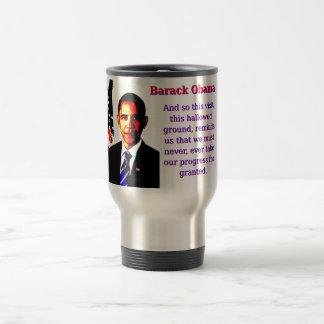 Caneca Térmica E assim esta visita - Barack Obama