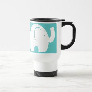 Caneca Térmica Elefantes brancos sobre o Aqua